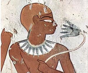 Kék lótuszvirág hierográfia